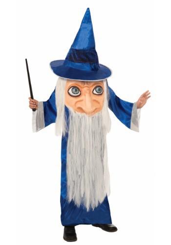 Disfraz infantil de mago rostro grande