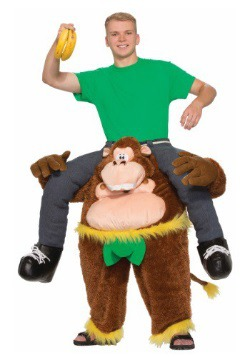 Disfraz de mono de montar para adulto