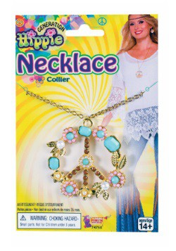 Collar de lujo con signo de paz hippie