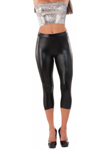 Leggings negros metálicos para mujer