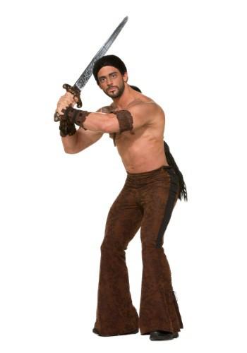 Pantalones de guerrero medieval para hombre