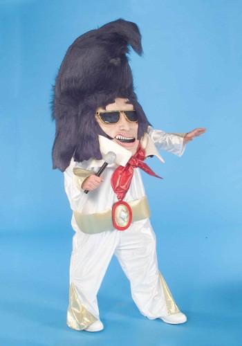 Mascota de desfile del Rey del Rock And Roll para adulto