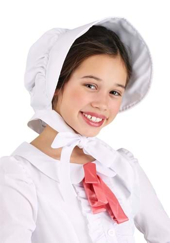 Bonete de pionero blanco para niños