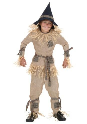 Disfraz infantil de espantapájaros tonto