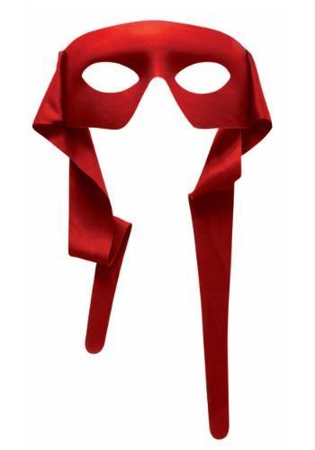 Hombre rojo enmascarado con lazos