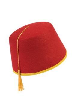 Sombrero rojo de Fez para adulto