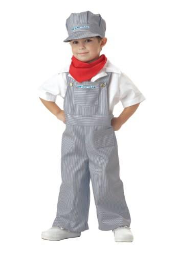 Disfraz de ingeniero Amtrak para niños pequeños