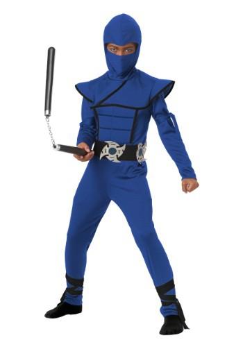 Disfraz infantil de ninja furtivo azul