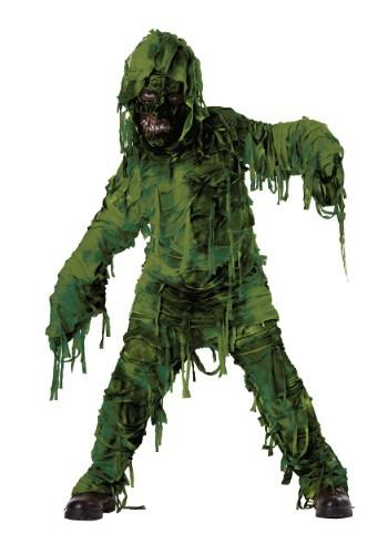 Disfraz de monstruo del pantano para niño