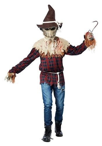 Disfraz de espantapájaros sádico para adulto