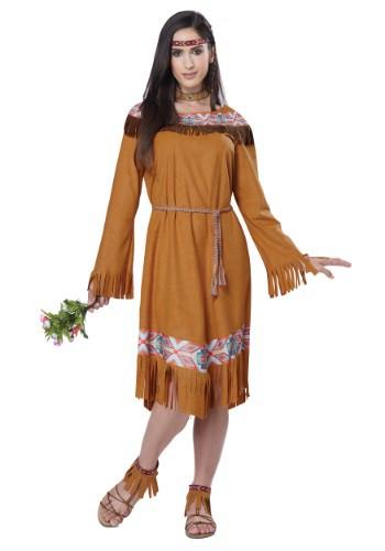 Disfraz de doncella india clásica para mujer