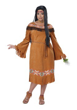 Disfraz de doncella india clásica de talla grande para mujer