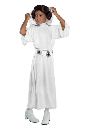 Disfraz para niña de lujo de la princesa Leia