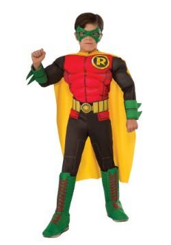 Disfraz infantil de Robin deluxe de DC comics