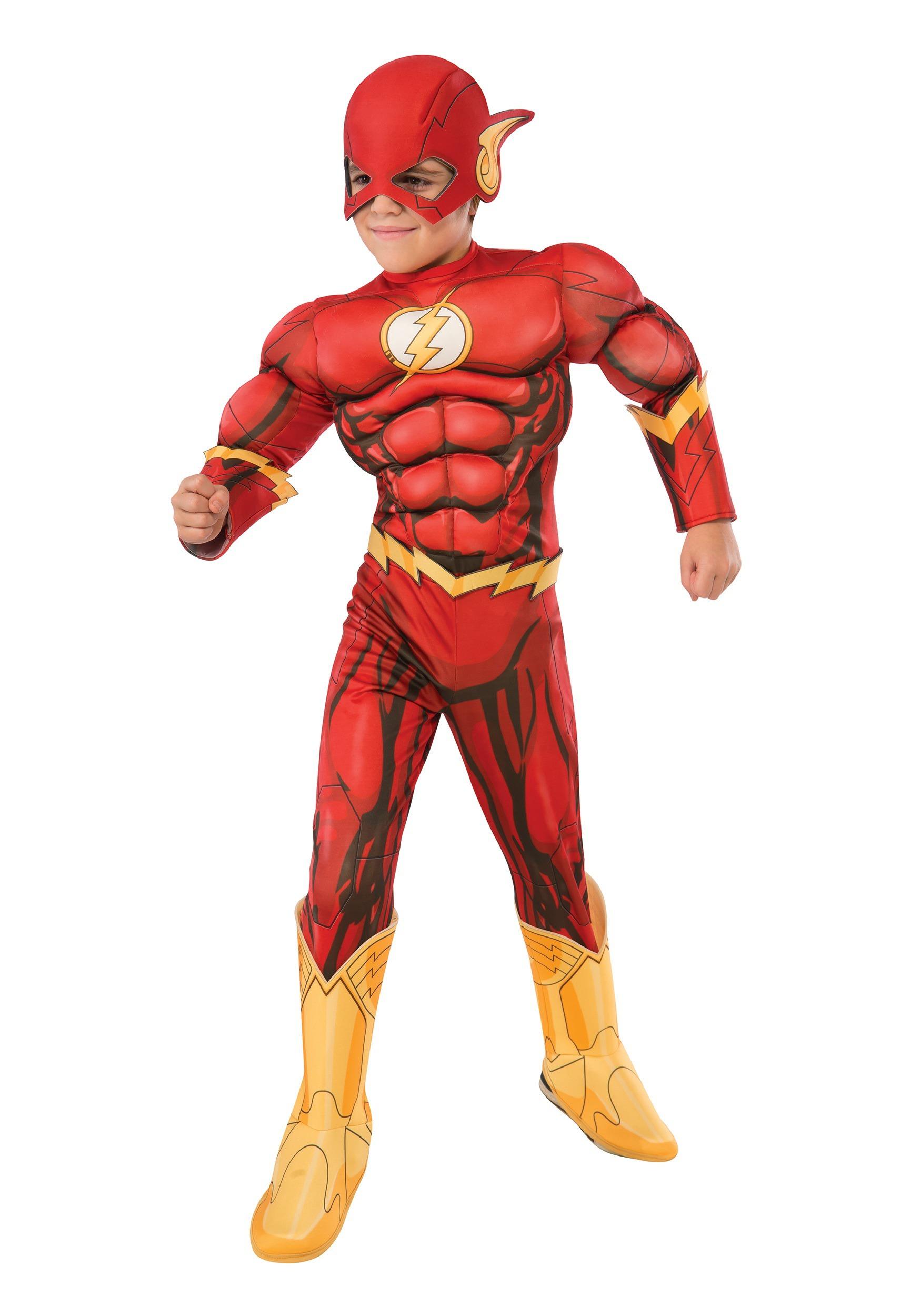 d676d5df886 Disfraz de Flash infantil de DC comics Deluxe