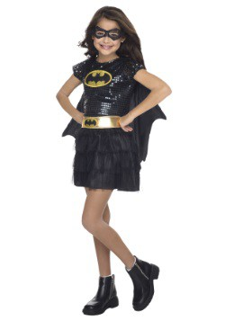 Traje de lentejuelas Batgirl para niños pequeños