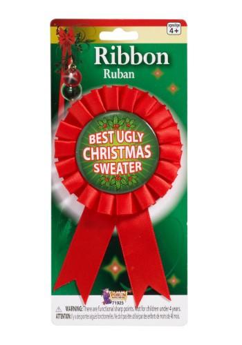 Cinta de premio el suéter más feo