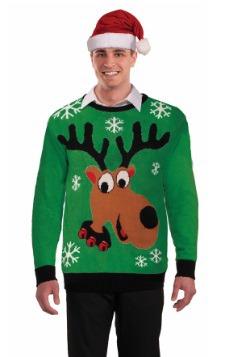 Suéter feo de renos adultos