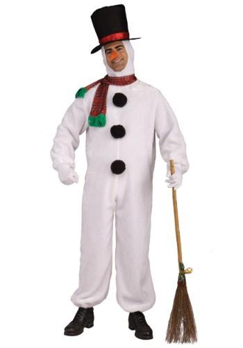 Disfraz de hombre de nieve suave para adulto