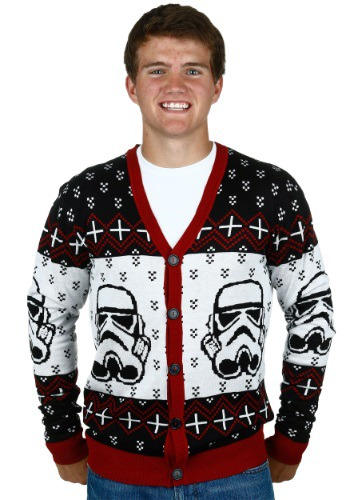 Star Wars Stormtrooper Ugly Sweater Cardigan Hombres