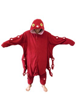 Disfraz de pijama de Pulpo Rojo