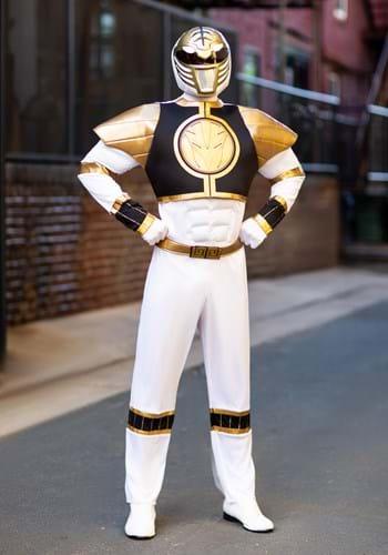 Disfraz de Ranger blanco musculoso clásico para adulto