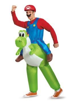 Disfraz para adulto de Mario montando a Yoshi