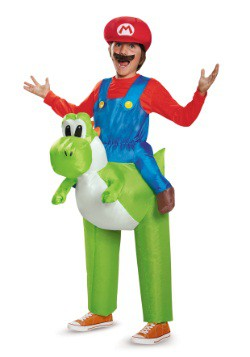 Disfraz infantil de Mario montando a Yoshi