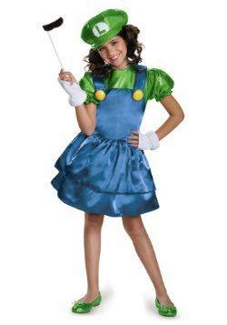Disfraz de falda de Luigi para niñas