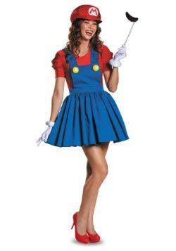 Disfraz de falda de Mario para mujer