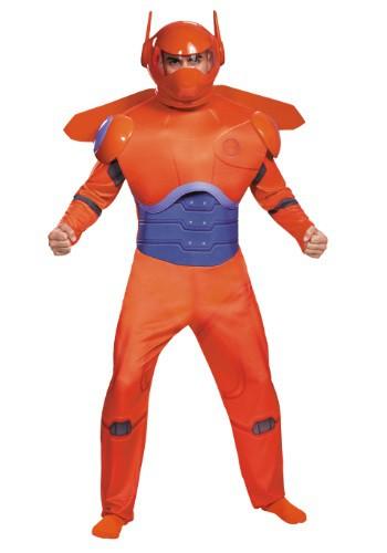 Disfraz de Baymax rojo deluxe para adulto