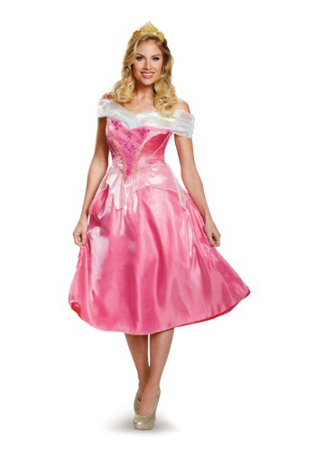 Disfraz de Aurora deluxe para mujer