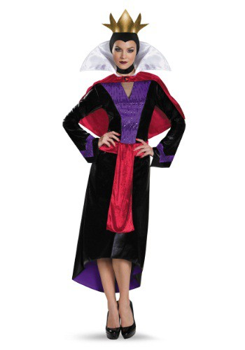 Disfraz de reina malvada de lujo para mujer