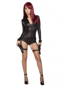 Disfraz Hot Hitwoman Romper para mujer