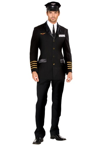 Disfraz de piloto de Mile High para hombre