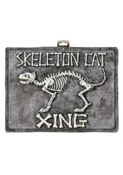 Letrero de gato esqueleto