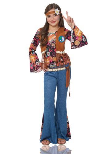 Disfraz para niña de amor y paz Hippie
