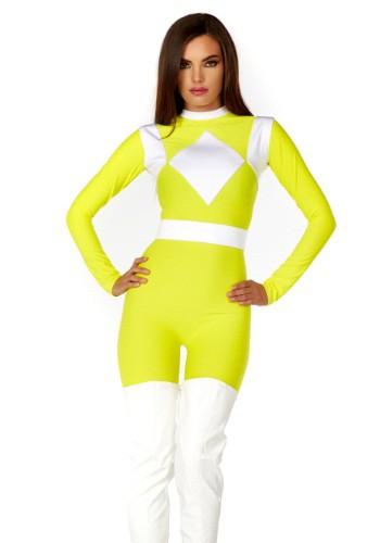 Ranger amarillo dinámico de las mujeres