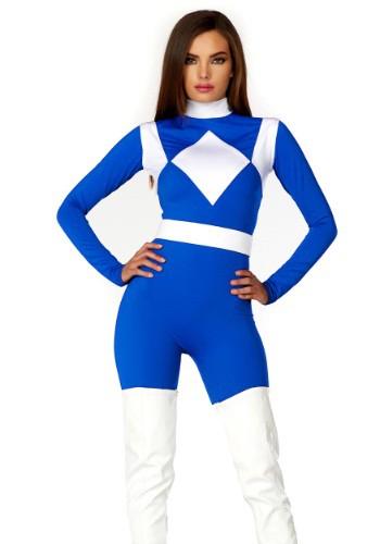 Disfraz de Ranger azul de dominancia femenina