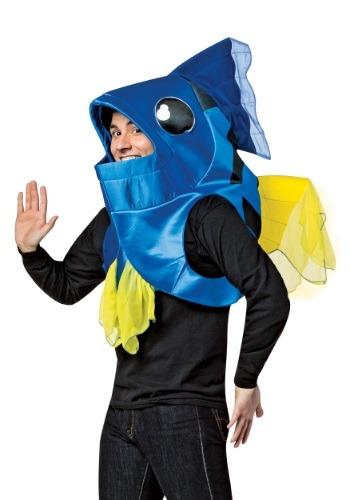 Disfraz de pez azul para adulto