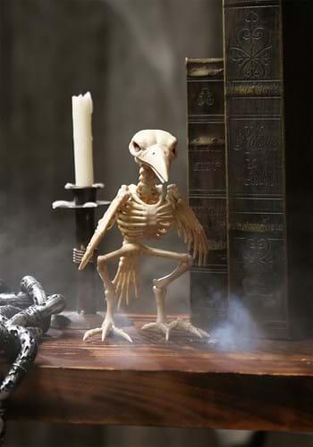 Cuervo esqueleto de utilería Upd