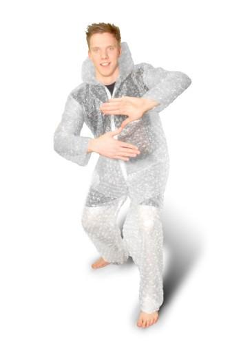 Disfraz de envoltura de burbujas