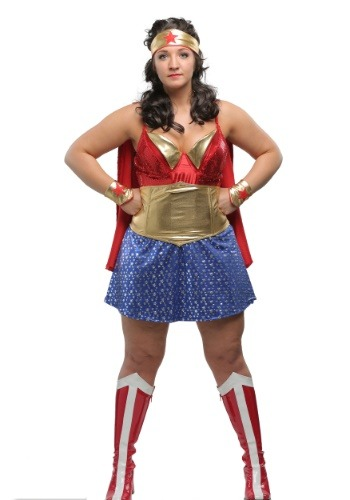 Disfraz Wonder Lady Mujer Plus Talla
