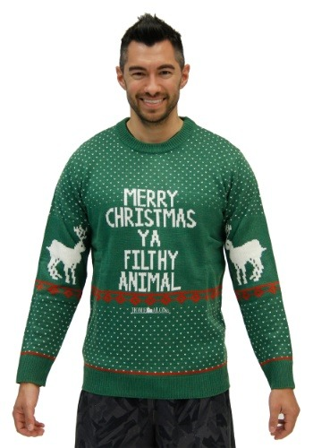 Suéter animal casero sin mangas y suéter verde alegre Home A