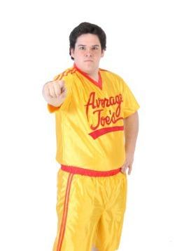 Disfraz de camiseta de dodgeball talla extra