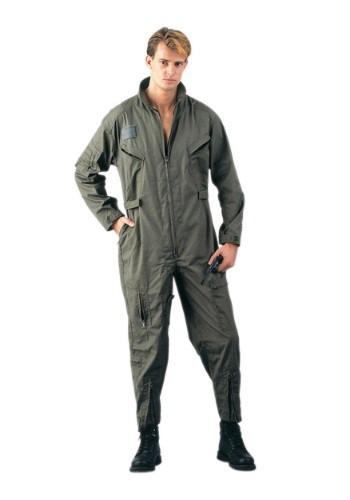 Disfraz de piloto militar verde oliva para adulto