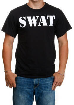 Camiseta negra SWAT para adulto