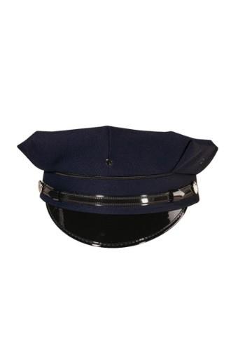 Gorra de policía azul marino deluxe 8 pt. para adulto