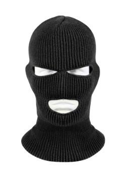 Máscara facial negra de 3 agujeros para adultos