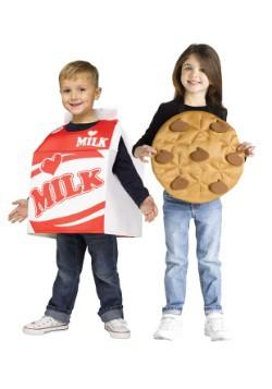 Disfraz infantil de leche y galletas